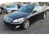 This is a beautiful BLACK 2013 HYUNDAI GENESIS 4 DOOR