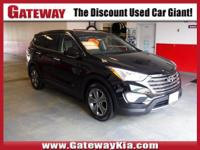 BLACK SANTA FE GLS HAS AWD, BLUETOOTH HANDS FREE CELL