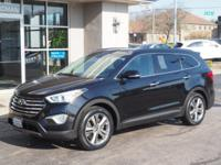 Clean CARFAX. Becketts Black 2013 Hyundai Santa Fe