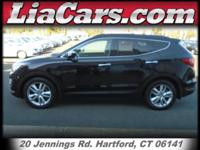 2013 Hyundai Santa Fe in Twilight Black. AWD. STOP!