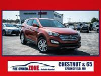 Certified 2013 Hyundai Santa Fe Sport 2.0T AWD! 2.0T is