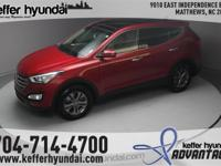This Santa Fe Sport is a local trade with a clean