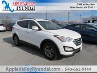 CARFAX One-Owner. Frost White 2013 Hyundai Santa Fe