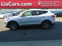 2013 Hyundai Santa Fe in Circuit Silver. AWD. All the