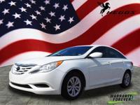 White 2013 Hyundai Sonata GLS FWD 6-Speed Automatic