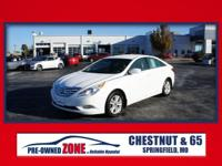2013 Hyundai Sonata GLS in Shimmering White Mica with