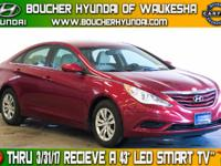 Clean Carfax One-Owner Sparkling Ruby Mica 2013 Hyundai