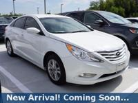 2013 Hyundai Sonata GLS in Shimmering White Mica, This