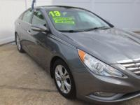 CARFAX One-Owner. Gray 2013 Hyundai Sonata Limited FWD