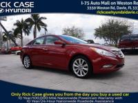 2013 Hyundai Sonata Limited in Red. Leather. Young one