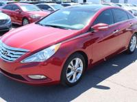 CARFAX One-Owner. Certified. Red 2013 Hyundai Sonata