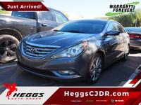 Grey 2013 Hyundai Sonata SE FWD 6-Speed Automatic with