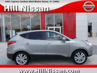 In this 2013 Hyundai Tucson Limited, enjoy every drive