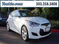 WOW!!! Check out this. 2013 Hyundai Veloster White 1.6L