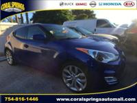 Options:  2013 Hyundai Veloster|Blue|Recent Arrival!