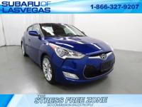 CARFAX One-Owner.   Blue 2013 Hyundai Veloster FWD
