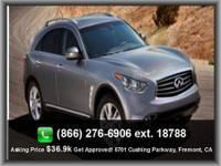 CARFAX ONE OWNER NEW ARRIVAL! This 2013 Infiniti FX37