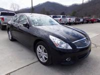 Black 2013 INFINITI G37 X AWD 7-Speed Automatic with
