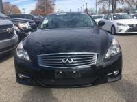 CARFAX One-Owner. Clean CARFAX. Black 2013 INFINITI G37