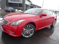 Options:  2013 Infiniti G37 X|Red|Heated Front Bucket