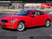 This 2013 INFINITI G37 Coupe 2dr 2dr x AWD features a