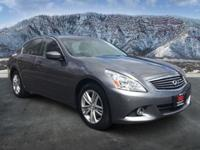 G37 X, 4D Sedan, 3.7L V6 DOHC 24V, 7-Speed Automatic