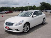 Leather. White 2013 INFINITI G37 RWD 3.7L V6 DOHC 24V