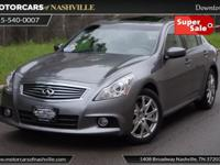This 2013 INFINITI G37 Sedan 4dr 4dr x AWD features a