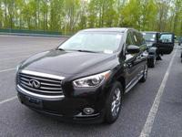 New Price! Black Obsidian 2013 INFINITI JX35 AWD