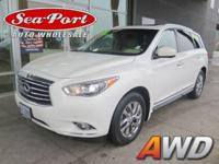 Racy yet refined, this 2013 INFINITI JX35 turns even