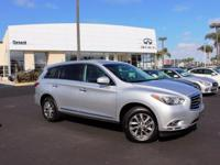 Options:  2013 Infiniti Jx35 Base|Silver|Loaded