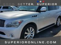 Liquid Platinum 2013 INFINITI QX56 Base Clean Carfax,