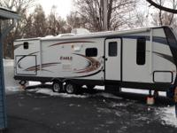 Excellent condition, queen bed, 3 bunks, outside
