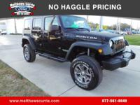 **CLEAN CARFAX 2013 JEEP WRANGLER RUBICON** 4 DOOR HARD