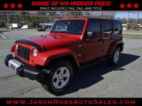 Beautiful 2013 jeep wrangler unlimited sahara with 95k