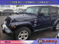 New Price! CARFAX One-Owner. Blue 2013 Jeep Wrangler