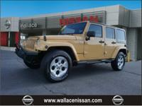New Price! Clean CARFAX.Wrangler Unlimited Sahara, 4D