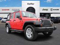 CARFAX One-Owner. Clean CARFAX. Red 2013 Jeep Wrangler