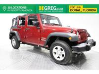 Clean CARFAX. This 2013 Jeep Wrangler Unlimited Sport