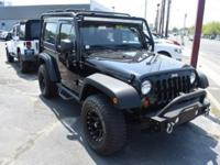 Clean CARFAX. Black Clearcoat 2013 Jeep Wrangler Sport