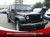 Recent Arrival! Clean CARFAX. Black 2013 Jeep Wrangler