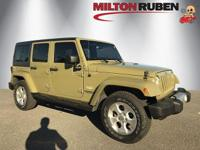 This 2013 Jeep Wrangler Unlimited 4dr 4WD 4dr Sahara
