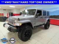 ONE OWNER. Wrangler Unlimited Sahara, 5-Speed