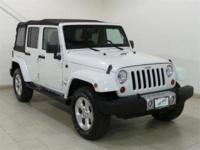 White 2013 Jeep Wrangler Unlimited Sahara 4WD 6-Speed