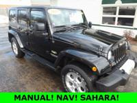 MANUAL! SAHARA! NAV! BLUETOOTH! HARD TOP! Check out the