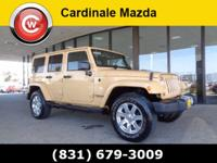 Clean CARFAX. Brown 2013 Jeep Wrangler Unlimited Sahara