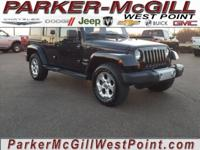 Black 2013 Jeep Wrangler Unlimited Sahara 4WD 6-Speed