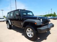 CARFAX One-Owner. Black Clearcoat 2013 Jeep Wrangler