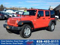 Options:  2013 Jeep Wrangler Unlimited Sport|4X4 Sport