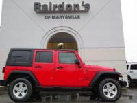 2013 Jeep Wrangler Unlimited Sport 4x4 Hard Top Low